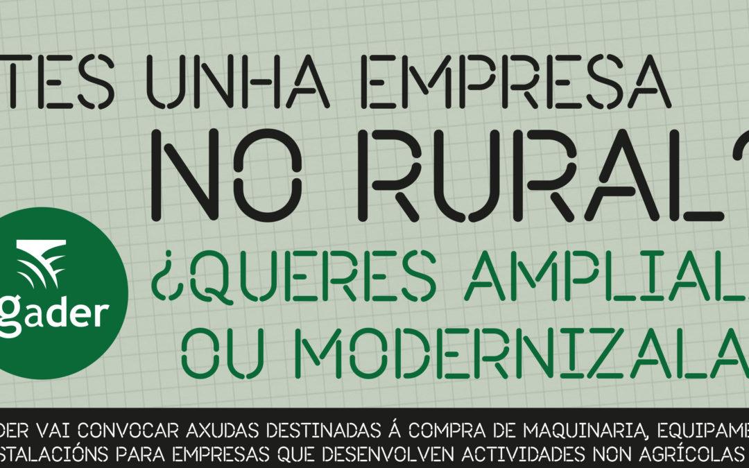 AXUDAS EMPRESAS NO MEDIO RURAL PARA O 2018
