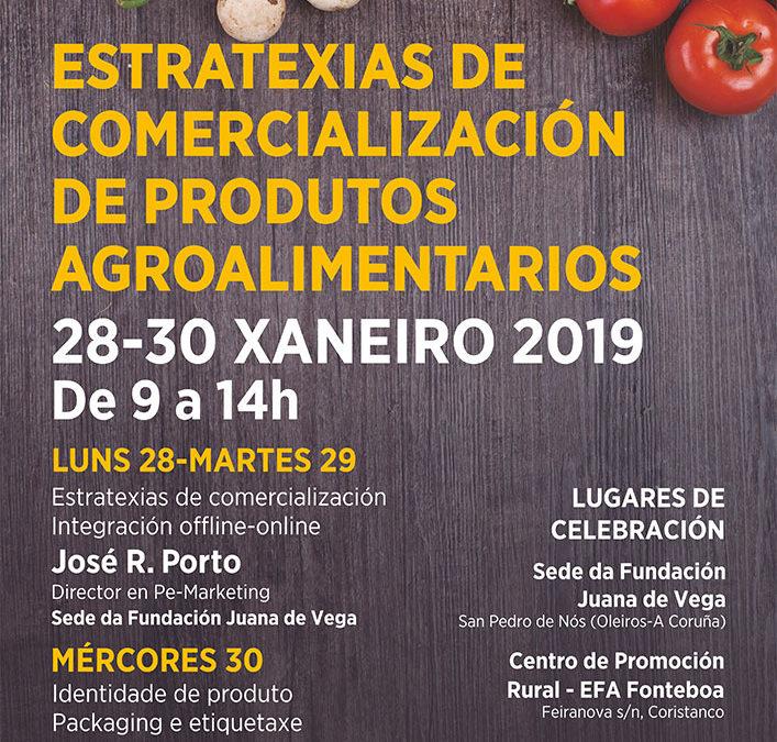 """Curso: """"Estratexias de comercialización de produtos agroalimentarios"""""""